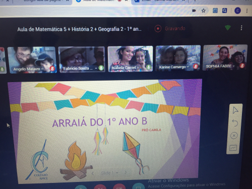 ARRAIÁ ONLINE DO 1º ANO B